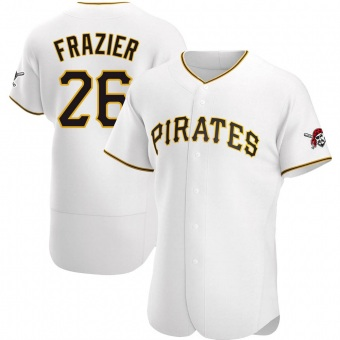 Men's Adam Frazier Pittsburgh White Authentic Home Baseball Jersey (Unsigned No Brands/Logos)