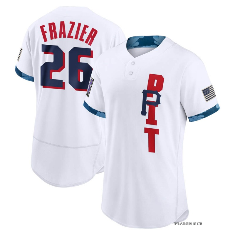 Men's Adam Frazier Pittsburgh White Game 2021 All-Star Authentic Baseball Jersey (Unsigned No Brands/Logos)