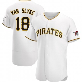 Men's Andy Van Slyke Pittsburgh White Authentic Home Baseball Jersey (Unsigned No Brands/Logos)