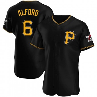 Men's Anthony Alford Pittsburgh Black Authentic Alternate Baseball Jersey (Unsigned No Brands/Logos)