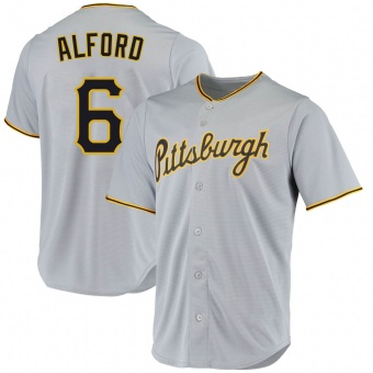 Men's Anthony Alford Pittsburgh Gray Replica Road Baseball Jersey (Unsigned No Brands/Logos)