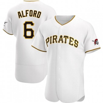 Men's Anthony Alford Pittsburgh White Authentic Home Baseball Jersey (Unsigned No Brands/Logos)