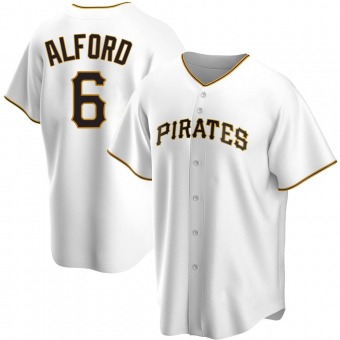 Men's Anthony Alford Pittsburgh White Replica Home Baseball Jersey (Unsigned No Brands/Logos)