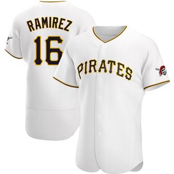 Men's Aramis Ramirez Pittsburgh White Authentic Home Baseball Jersey (Unsigned No Brands/Logos)