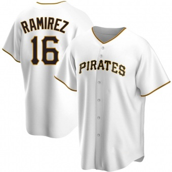 Men's Aramis Ramirez Pittsburgh White Replica Home Baseball Jersey (Unsigned No Brands/Logos)