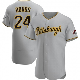 Men's Barry Bonds Pittsburgh Gray Authentic Road Baseball Jersey (Unsigned No Brands/Logos)