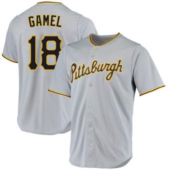 Men's Ben Gamel Pittsburgh Gray Game Road Replica Baseball Jersey (Unsigned No Brands/Logos)