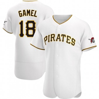 Men's Ben Gamel Pittsburgh White Game Home Authentic Baseball Jersey (Unsigned No Brands/Logos)
