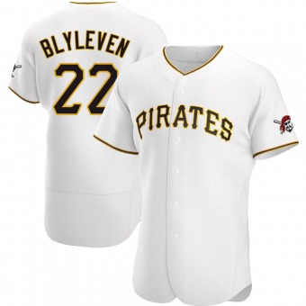 Men's Bert Blyleven Pittsburgh White Authentic Home Baseball Jersey (Unsigned No Brands/Logos)