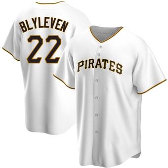 Men's Bert Blyleven Pittsburgh White Replica Home Baseball Jersey (Unsigned No Brands/Logos)