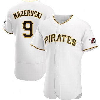 Men's Bill Mazeroski Pittsburgh White Authentic Home Baseball Jersey (Unsigned No Brands/Logos)