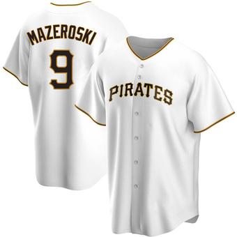 Men's Bill Mazeroski Pittsburgh White Replica Home Baseball Jersey (Unsigned No Brands/Logos)