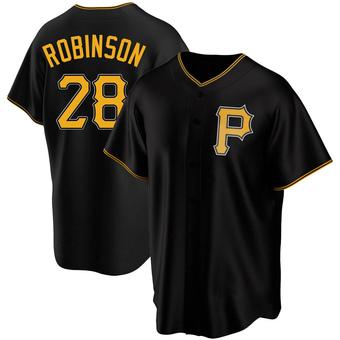 Men's Bill Robinson Pittsburgh Black Replica Alternate Baseball Jersey (Unsigned No Brands/Logos)