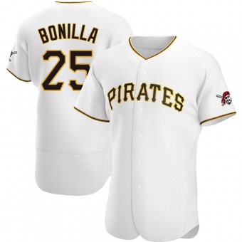 Men's Bobby Bonilla Pittsburgh White Authentic Home Baseball Jersey (Unsigned No Brands/Logos)