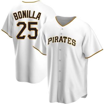 Men's Bobby Bonilla Pittsburgh White Replica Home Baseball Jersey (Unsigned No Brands/Logos)