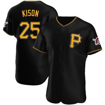 Men's Bruce Kison Pittsburgh Black Authentic Alternate Baseball Jersey (Unsigned No Brands/Logos)