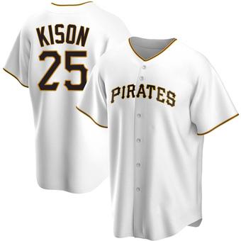 Men's Bruce Kison Pittsburgh White Replica Home Baseball Jersey (Unsigned No Brands/Logos)