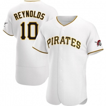 Men's Bryan Reynolds Pittsburgh White Authentic Home Baseball Jersey (Unsigned No Brands/Logos)
