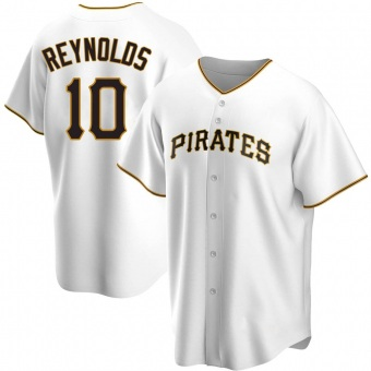 Men's Bryan Reynolds Pittsburgh White Replica Home Baseball Jersey (Unsigned No Brands/Logos)