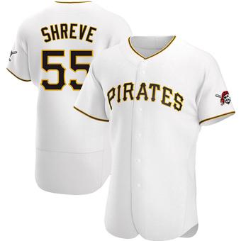 Men's Chasen Shreve Pittsburgh White Authentic Home Baseball Jersey (Unsigned No Brands/Logos)