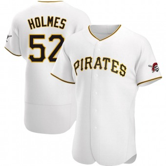 Men's Clay Holmes Pittsburgh White Authentic Home Baseball Jersey (Unsigned No Brands/Logos)