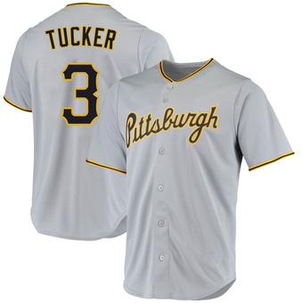 Men's Cole Tucker Pittsburgh Gray Replica Road Baseball Jersey (Unsigned No Brands/Logos)