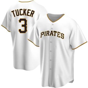 Men's Cole Tucker Pittsburgh White Replica Home Baseball Jersey (Unsigned No Brands/Logos)