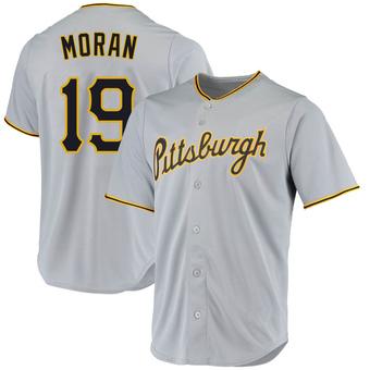 Men's Colin Moran Pittsburgh Gray Replica Road Baseball Jersey (Unsigned No Brands/Logos)