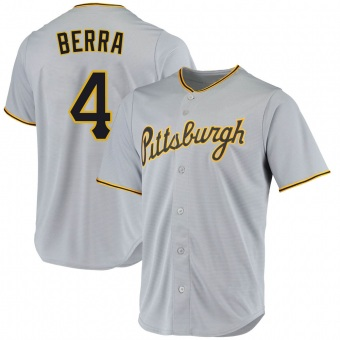 Men's Dale Berra Pittsburgh Gray Replica Road Baseball Jersey (Unsigned No Brands/Logos)
