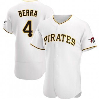 Men's Dale Berra Pittsburgh White Authentic Home Baseball Jersey (Unsigned No Brands/Logos)