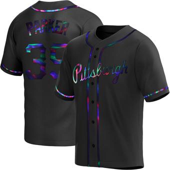 Men's Dave Parker Pittsburgh Black Holographic Replica Alternate Baseball Jersey (Unsigned No Brands/Logos)