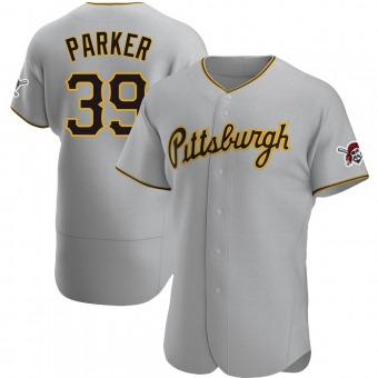 Men's Dave Parker Pittsburgh Gray Authentic Road Baseball Jersey (Unsigned No Brands/Logos)
