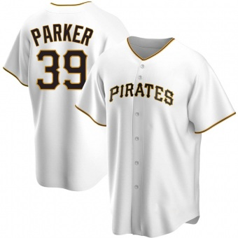Men's Dave Parker Pittsburgh White Replica Home Baseball Jersey (Unsigned No Brands/Logos)