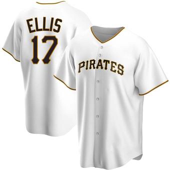 Men's Dock Ellis Pittsburgh White Replica Home Baseball Jersey (Unsigned No Brands/Logos)