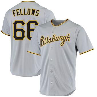 Men's Drake Fellows Pittsburgh Gray Replica Road Baseball Jersey (Unsigned No Brands/Logos)