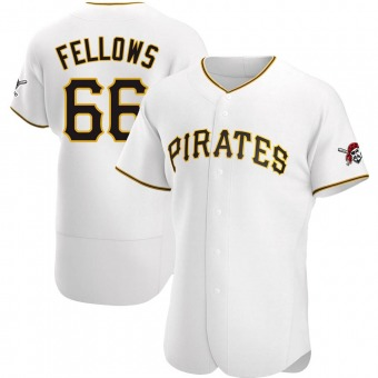 Men's Drake Fellows Pittsburgh White Authentic Home Baseball Jersey (Unsigned No Brands/Logos)