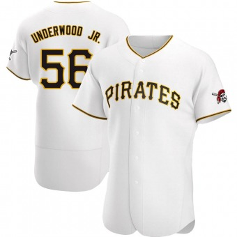 Men's Duane Underwood Jr. Pittsburgh White Authentic Home Baseball Jersey (Unsigned No Brands/Logos)