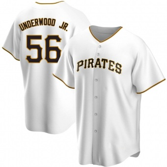 Men's Duane Underwood Jr. Pittsburgh White Replica Home Baseball Jersey (Unsigned No Brands/Logos)
