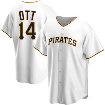 Men's Ed Ott Pittsburgh White Replica Home Baseball Jersey (Unsigned No Brands/Logos)