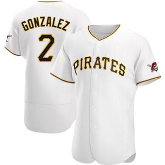 Men's Erik Gonzalez Pittsburgh White Authentic Home Baseball Jersey (Unsigned No Brands/Logos)