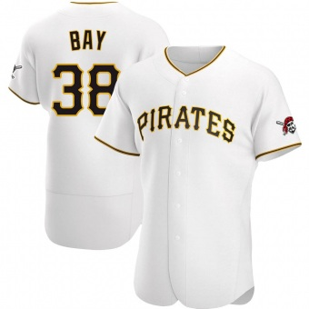 Men's Jason Bay Pittsburgh White Authentic Home Baseball Jersey (Unsigned No Brands/Logos)