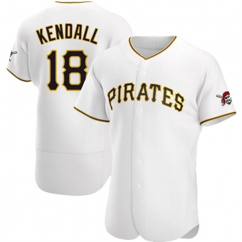 Men's Jason Kendall Pittsburgh White Authentic Home Baseball Jersey (Unsigned No Brands/Logos)