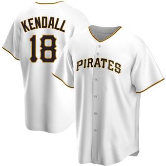 Men's Jason Kendall Pittsburgh White Replica Home Baseball Jersey (Unsigned No Brands/Logos)