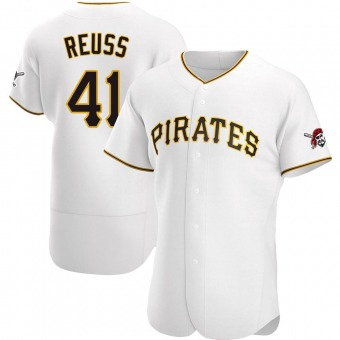 Men's Jerry Reuss Pittsburgh White Authentic Home Baseball Jersey (Unsigned No Brands/Logos)