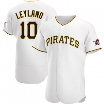 Men's Jim Leyland Pittsburgh White Authentic Home Baseball Jersey (Unsigned No Brands/Logos)