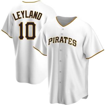 Men's Jim Leyland Pittsburgh White Replica Home Baseball Jersey (Unsigned No Brands/Logos)