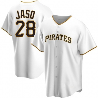 Men's John Jaso Pittsburgh White Replica Home Baseball Jersey (Unsigned No Brands/Logos)
