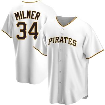 Men's John Milner Pittsburgh White Replica Home Baseball Jersey (Unsigned No Brands/Logos)