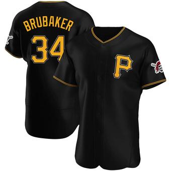 Men's JT Brubaker Pittsburgh Black Authentic Alternate Baseball Jersey (Unsigned No Brands/Logos)