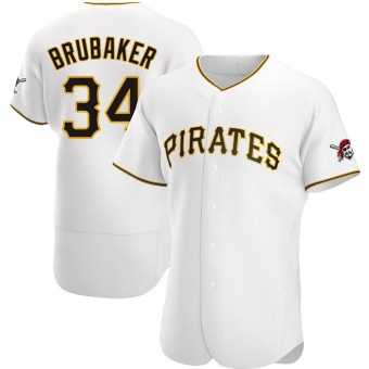 Men's JT Brubaker Pittsburgh White Authentic Home Baseball Jersey (Unsigned No Brands/Logos)